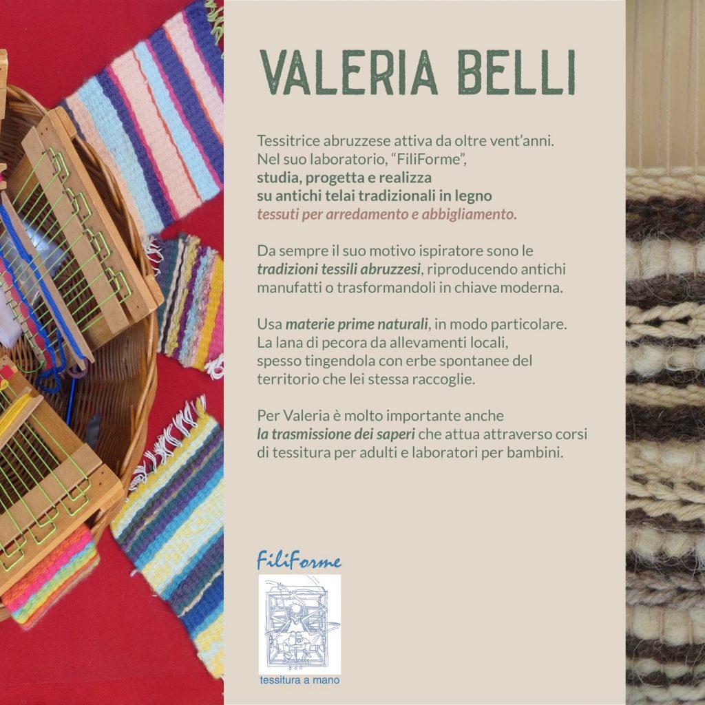 Valeria Belli tessitrice abruzzese