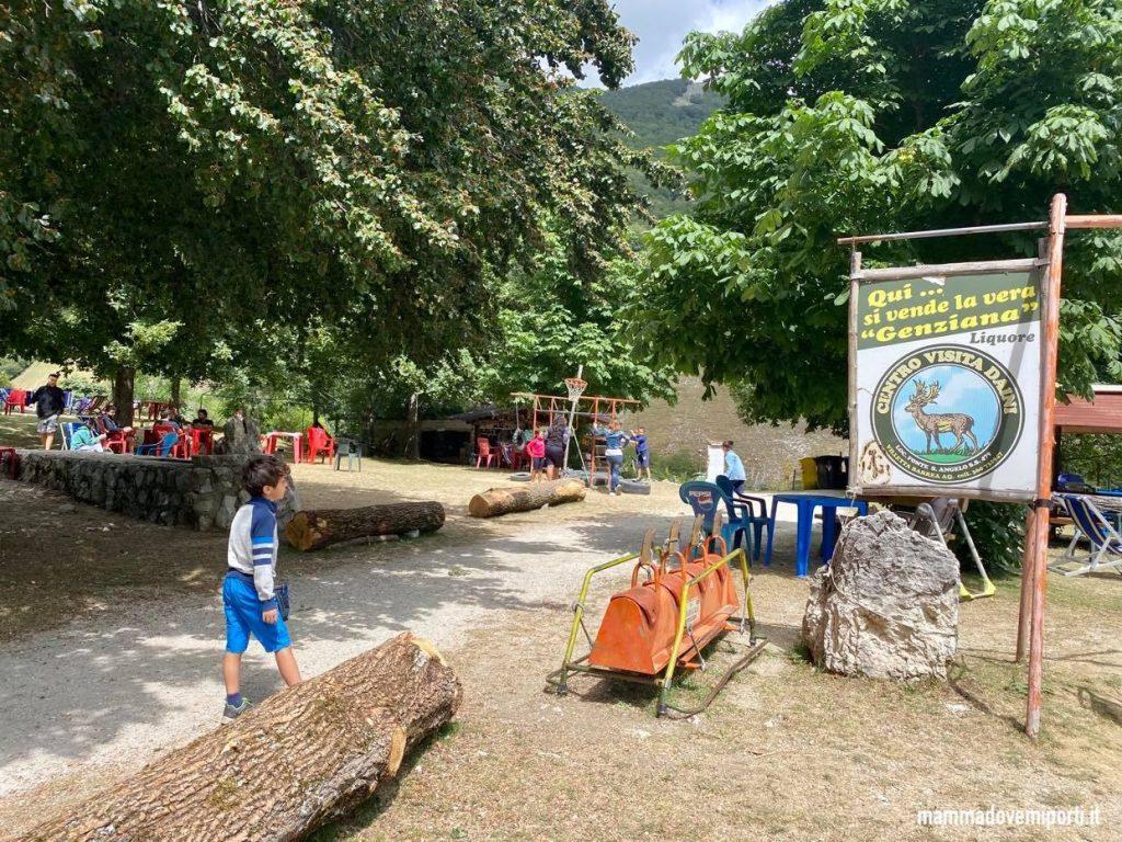 Area Picnic del Centro Visita Daini a Villetta Barrea