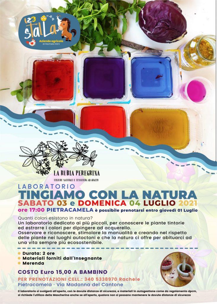 Laboratorio per bambini di tintura con i colori naturali a Pietracamela