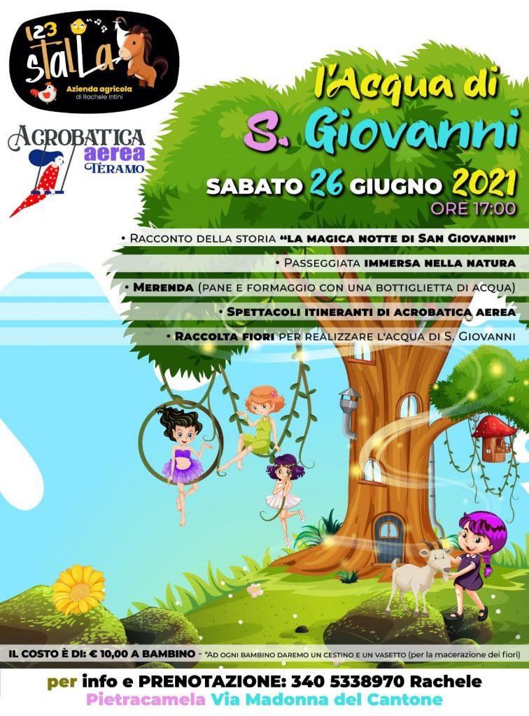 L'acqua di San Giovanni evento per bambini a Pietracamela