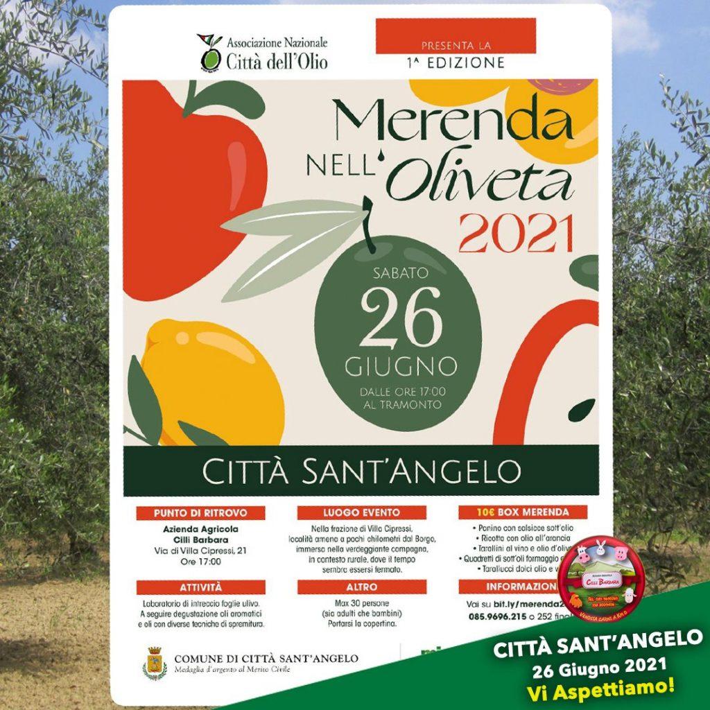 Merenda nell'olivea a Città Sant'Angelo presso Azienda Agricola Cilli Barbara