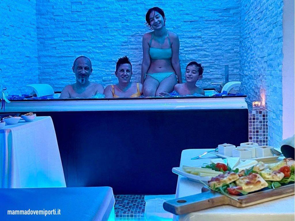 Private SPA da Paradise SPA & Relax a Chieti con vasca idromassaggio e zona aperitivo