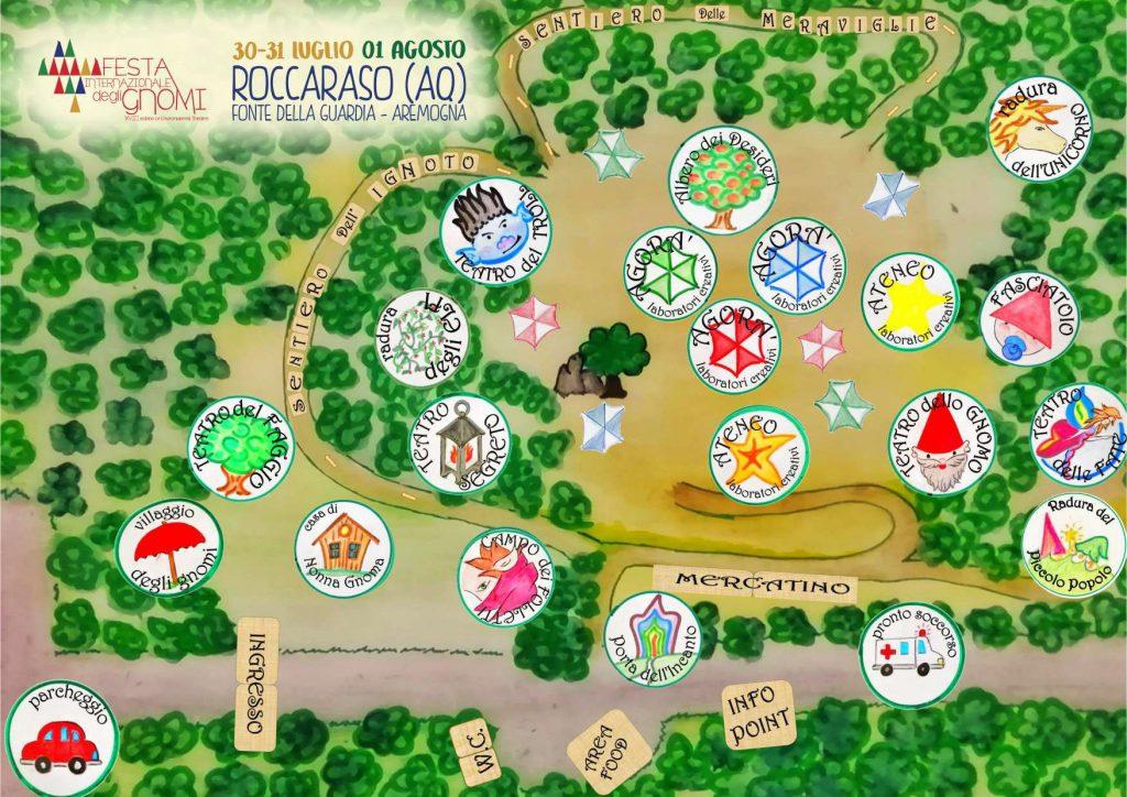 Mappa Festa Internazionale degli Gnomi