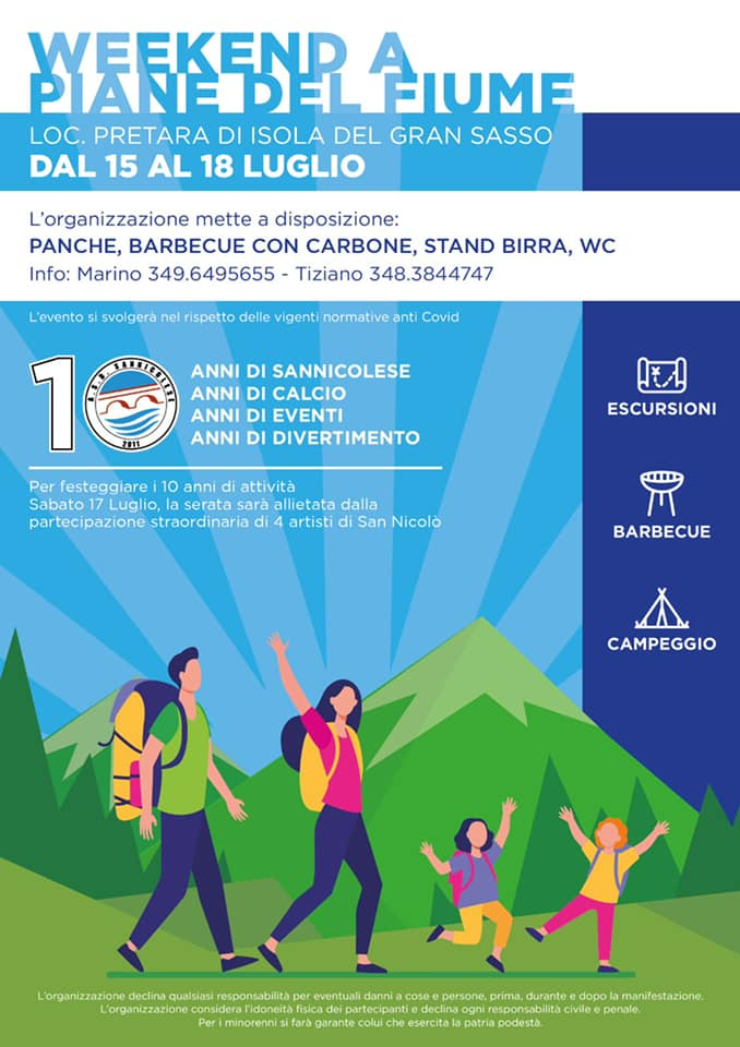 Weekend a Piane del Fiume