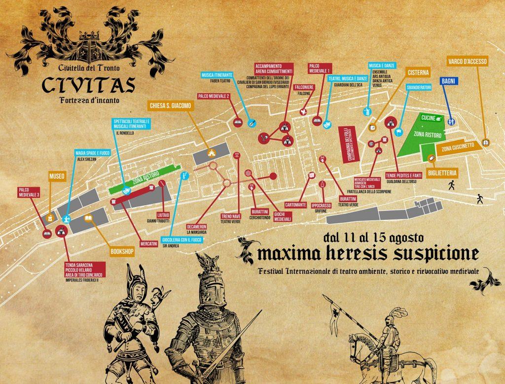 Mappa Civitas Fortezza d'Incanto a Civitella del Tronto