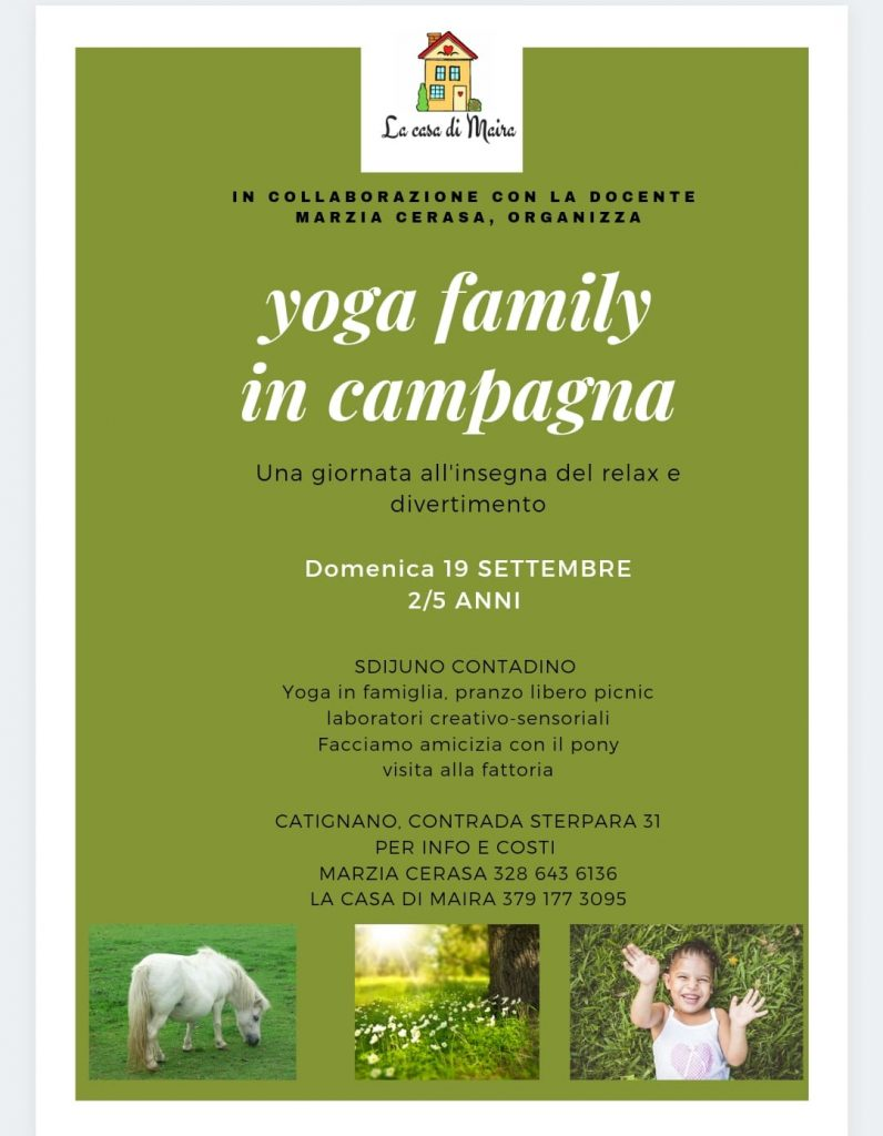 Yoga Family in Campagna da La Casa di Maira