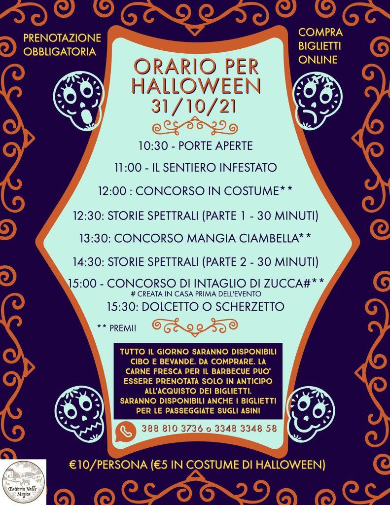 Programma Halloween da Fattoria Valle Magica